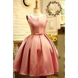 Đầm xòe hồng dự tiệc sang trọng