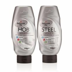 Bộ tẩy rửa mặt bếp và kim loại chuyên nghiệp PRO HOB - STEEL ASTONISH