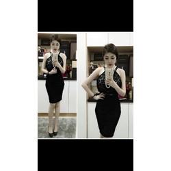 ĐẦM BODY CỔ YẾM PHỐI REN 3 MÀU XINH XẮN