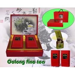 Hộp Trà Oolong Cao Cấp - ép vân đỏ