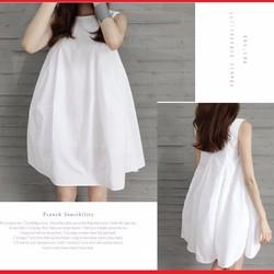 Đầm suông nữ không tay, thiết kế xòe điệu đà, dễ thương.