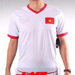 Đồ đá banh áo tuyển Việt Nam màu trắng sân nhà AFF Cup 2014