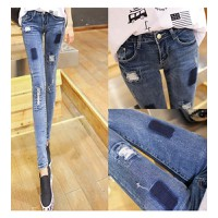 Quần jeans skinny rách vá Mã: QD1024