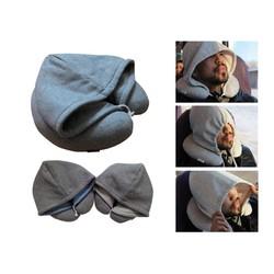 Gối cổ chữ U kèm nón