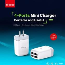 Bộ sạc điện thoại 4 cổng USB Yoobao YB-703
