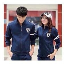 áo khoác cặp đôi màu xanh đen phối tay kute áo khoác nam nữ giá rẽ