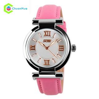 Đồng hồ Nữ Skmei 9075 dạ quang dây da DHA134 - DHA134 Đồng hồ Nữ dây da thumbnail