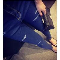 Quần jeans skinny rách ngang Mã: QD996