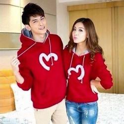 áo khoác cặp đôi chồng cỗ hình trái tim cực iu giá rẽ vải nĩ loại 1
