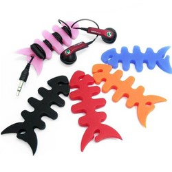 Combo 5 dụng cụ thu gọn dây điện silicon hình xương cá