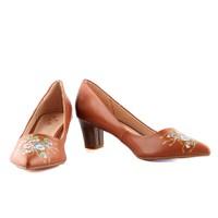 Giày Cao Gót Nữ In Hoa