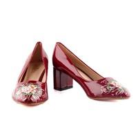 Giày Cao Gót In Hoa Nữ