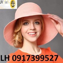 Nón mũ rộng vành CAO CẤP thời trang đi biển mùa hè chống tia UV K79214