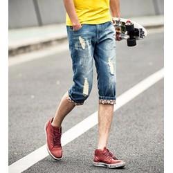 Quần jeans lửng nam rách Mã: NL0394
