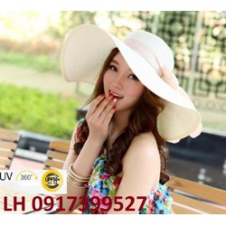 Nón mũ rộng vành thời trang đi biển mùa hè mới chống tia UV  K79207