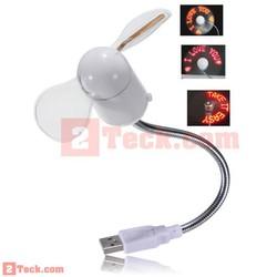 Quạt tạo chữ đèn led USB được thiết kế thông minh