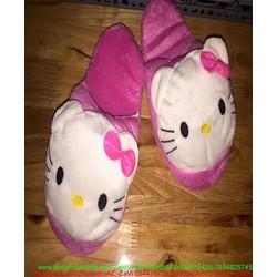Dép thú bông mang trong nhà hình mèo hello kitty dễ thương DTN85