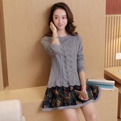 Đầm len phối họa tiết cực xinh DL35