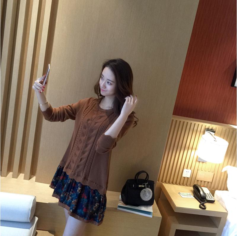 Đầm len phối họa tiết cực xinh DL35 5