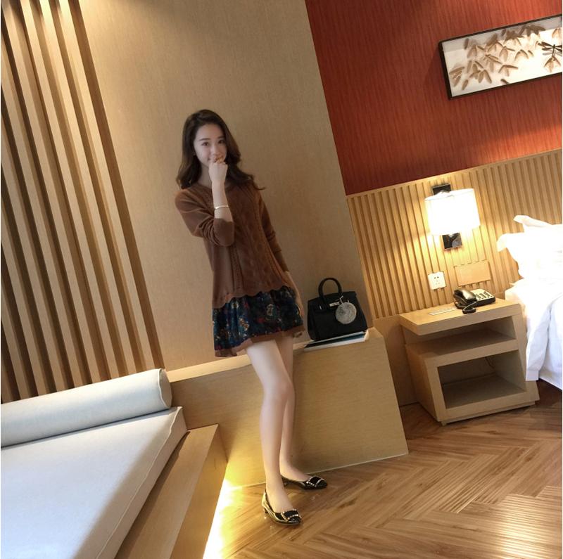 Đầm len phối họa tiết cực xinh DL35 7