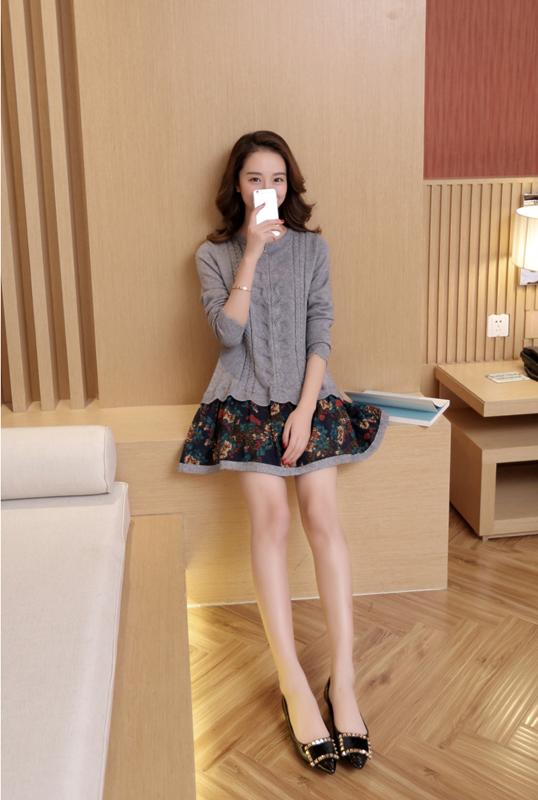 Đầm len phối họa tiết cực xinh DL35 19