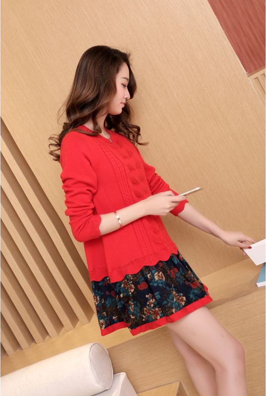 Đầm len phối họa tiết cực xinh DL35 13