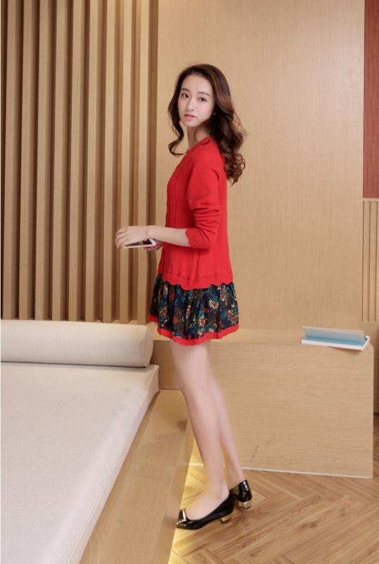 Đầm len phối họa tiết cực xinh DL35 14