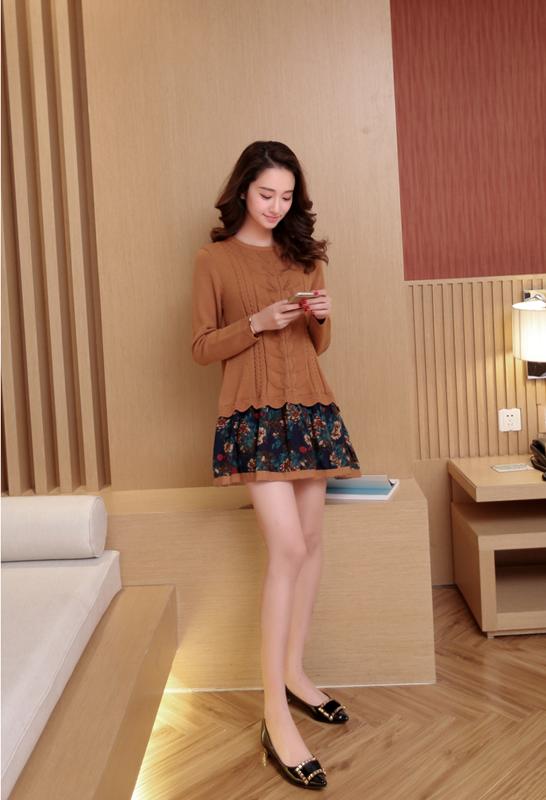 Đầm len phối họa tiết cực xinh DL35 17