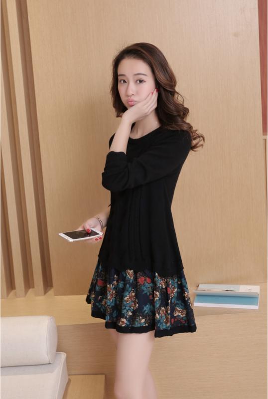 Đầm len phối họa tiết cực xinh DL35 16