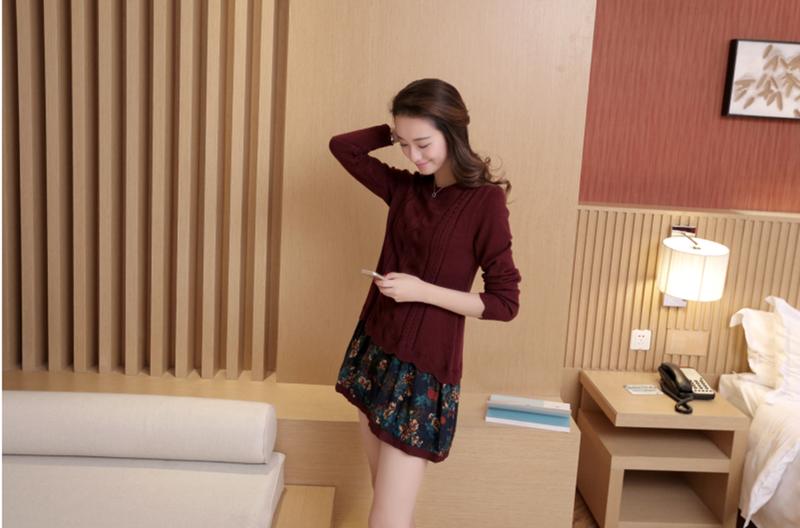 Đầm len phối họa tiết cực xinh DL35 9