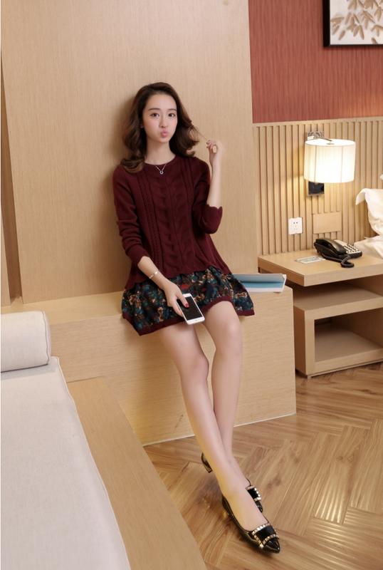 Đầm len phối họa tiết cực xinh DL35 10