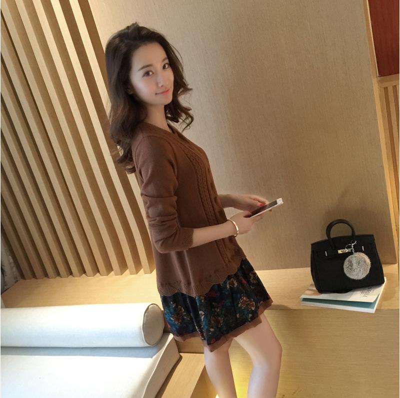 Đầm len phối họa tiết cực xinh DL35 4