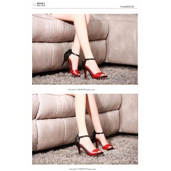 HÀNG CAO CẤP CHẤT LIỆU NGOẠI NHẬP:Giày cao gót phối màu sang trọng