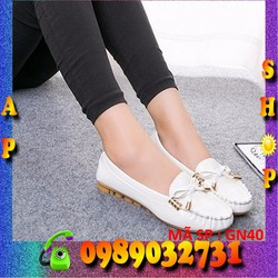 giày búp bê nữ trắng dễ thương - GN40
