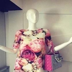 Đầm suông cùng bạn dạo phố họa tiết hoa nổi bật sành điệu DSV146