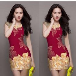 Đầm body in họa tiết 3D giống ngọc trinh TAVN05