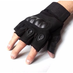 Sỉ lẻ Găng tay hở ngón oackley ,tích hợp phần nhựa cứng  chống va chạm