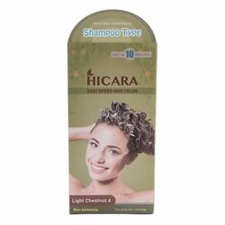 Thuốc nhuộm tóc dạng gội Hicara Easy 4 màu nâu sáng