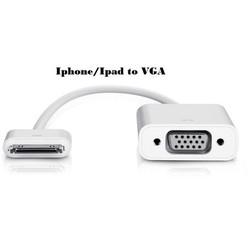 Cáp Kết Nối VGA cho Iphone 4, 4S, Ipad
