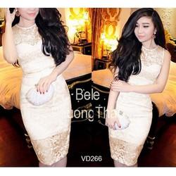 Đầm ren body cao cấp Bella VDVU266