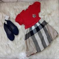 Đầm Burberry bé gái cách điệu