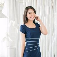 Đầm cao cấp Elisa tay búp sen thời trang - TP345155