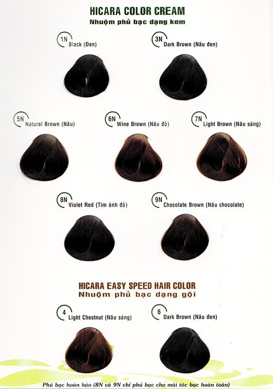 Thuốc nhuộm tóc dạng gội Hicara Easy 4 3