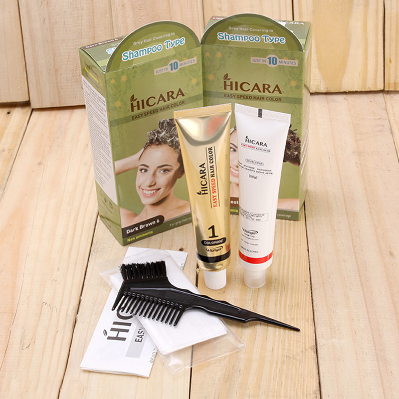 Thuốc nhuộm tóc dạng gội Hicara Easy 4 4