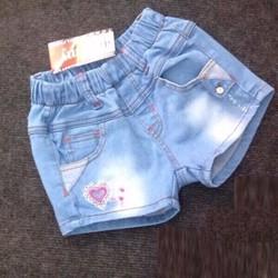 Quần short jeans bé gái xanh nhạt XN197