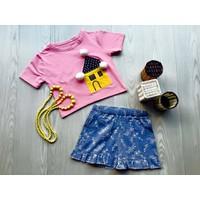 Bộ áo thun cotton, quần vải Little Mon 15