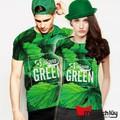 MTL - Áo thun cặp 3D Green