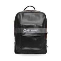 Balo Laptop Huy Hoàng da tổng hợp màu đen TX6127