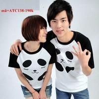 Áo thun cặp tình nhân gấu Panda cực dễ thương vATC138
