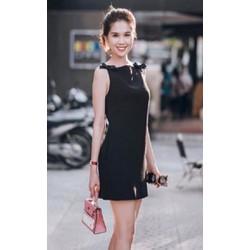 Đầm suông Ngọc Trinh thắt nơ D455